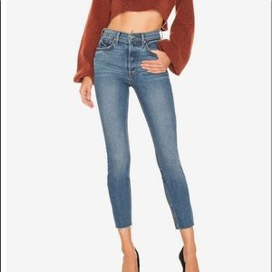 """MOTHER 11"""" Rise Stunner Fray Ankle Jeans"""